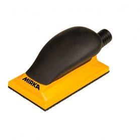 Ручной шлифовальный блок желтый с пылеотводом 70х125мм