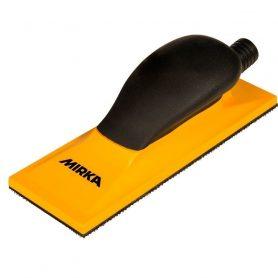 Ручной шлифовальный блок желтый с пылеотводом 70х198мм